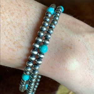 Jewelry - Native American Turquoise Pearls Bracelet